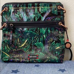 Sakroots Iguana Bamboo Print Crossbody Bag